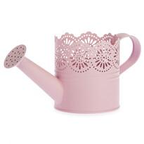 Metalowa konewka Lace różowy, śr. 10 cm