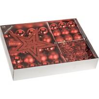 Zestaw ozdób świątecznych Luxury czerwony, 33 szt.