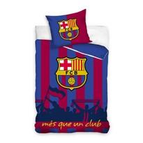 Pościel bawełniana FC Barcelona Més que un club, 140 x 200 cm, 70 x 80 cm