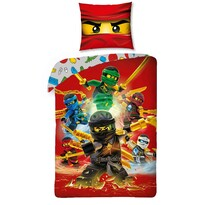 Dětské bavlněné povlečení Lego Ninjago red, 140 x 200 cm, 70 x 90 cm