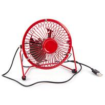 USB ventilátor, piros, 13,5 x 11 x 15 cm