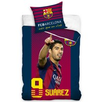 Bavlněné povlečení FC Barcelona Suarez, 140 x 200 cm, 70 x 90 cm