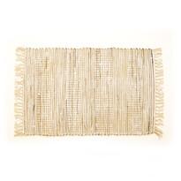 Ručně tkaný koberec Juta krémová, 60 x 90 cm