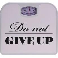 Osobní mechanická váha Do not give up, bílá