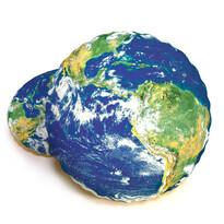 Tvarovaný 3D polštářek Zeměkoule, 40 cm
