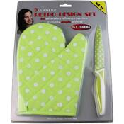 Teflonový nůž s chňapkou ZDARMA zelená
