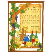 Textilní kalendář 2017 Víno, 45 x 65 cm