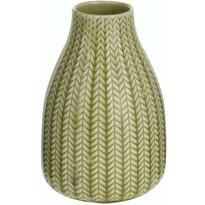 Porcelánová váza Knit svetlozelená, 16 cm