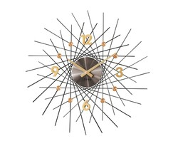 Nástěnné hodiny Lavvu Crystal Lines antracitová, pr. 49 cm
