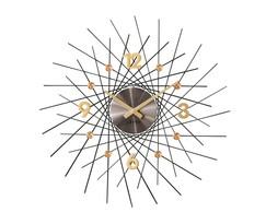 Zegar ścienny Lavvu Crystal Lines antracytowy, śr. 49 cm