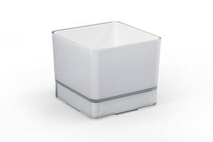 Plastový kvetináč Cube 200 sv. sivá