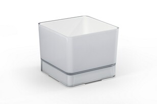Plastový květináč Cube 200 sv.šedá