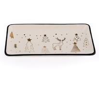 Keramický servírovací tác Vánoce, 20 x 12 cm