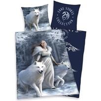 Pościel bawełniana Anne Stokes White Wolves, 140 x 200 cm, 70 x 90 cm