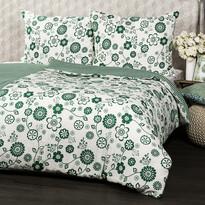 Bavlnené obliečky Flower zelená, 140 x 200 cm, 70 x 90 cm