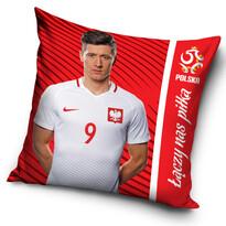 Poduszka PZPN Lewandowski red, 40 x 40 cm