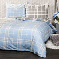 Lenjerie de pat din flanelă 4Home, Cub albastru