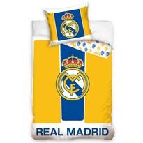 Bavlněné povlečení Real Madrid Yellow stripes, 160 x 200 cm, 70 x 80 cm