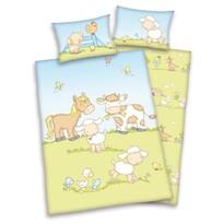 Lenjerie de pat pentru copii Jana Fermă, 135 x 100 cm, 40 x 60 cm