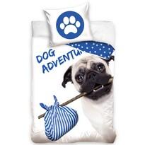 Bavlnené obliečky Mopslík - Dog Adventure, 140 x 200 cm, 70 x 90 cm