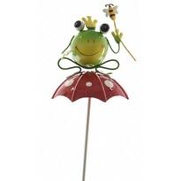 Dekorační Žabka s včelkou na deštníku, 70 cm