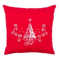 Poszewka na poduszkę Choinka Ornament czerwony, 40 x 40 cm