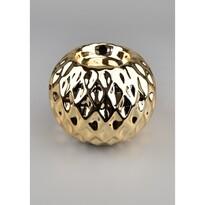 Świecznik ceramiczny Rombo, złoty