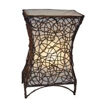 Stolní lampa ratanová