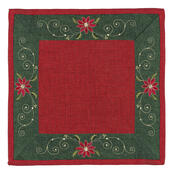 Vánoční ubrus Hvězda červená, 35 x 35 cm
