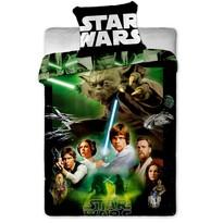 Detské bavlnené obliečky Star Wars Green, 140 x 200 cm, 70 x 90 cm