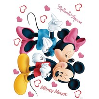 Samolepicí dekorace Minnie a Mickey, 42,5 x 65 cm