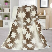 Vlnená deka Európske merino DUO Hviezdička, 155 x 200 cm