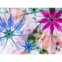 Fototapeta XXL Květinové siluety 360 x 270 cm, 4 díly