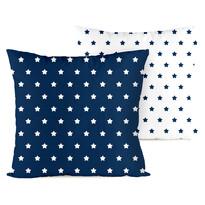 4home Obliečka na vankúšik Stars navy blue, 2x 40 x 40 cm