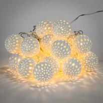 Lampki świetlne LED z ozdobnymi kulkami