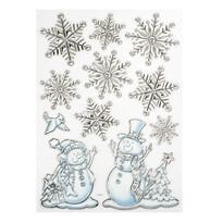 3D samolepky sněhulák
