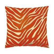 Vankúšik Leona zebra oranžová, 45 x 45 cm