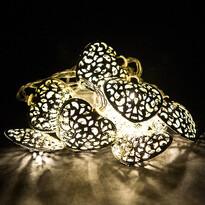 Lampki LED Heart, srebrny