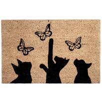 Kokosová rohožka Mačky a motýle, 40 x 60 cm