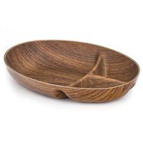 Tavă plastic 3 piese cu decor din lemn Buffet, 23 x 17 x 4 cm