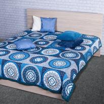 Narzuta na łóżko Gipsy niebieski, 220 x 240 cm