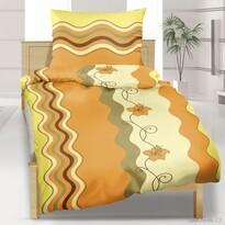 Krepové obliečky Vlnka medová, 140 x 200 cm, 70 x 90 cm