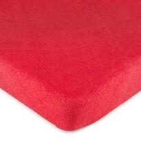 Cearșaf pat 4Home, din bumbac fin, roşu