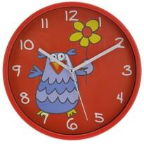 Nástenné hodiny Owl červená, 23 cm