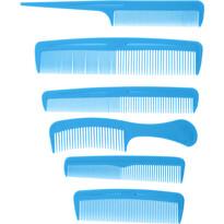 Sada hrebeňov Combs modrá, 6 ks