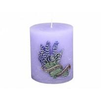 Lavender Dekoratív gyertya, henger