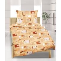 Bavlnené obliečky Medový sen, 140 x 220 cm, 70 x 90 cm