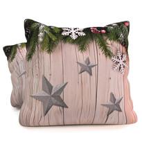 Vankúšik Vianočné hviezdičky, 40 x 40 cm