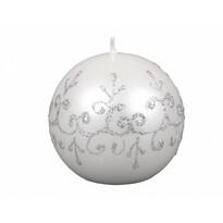 Lumânare de Crăciun Tiffany rotundă, albă