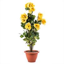 Umelá kvetina ker žltých ruží v kvetináči